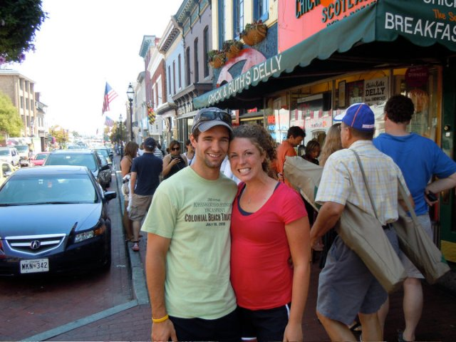 After our first race together - Annapolis 10 Miler 2010