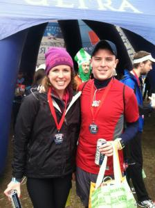 Matt and I at Rock 'n Roll USA Half Marathon 2013