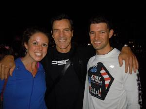 Mike and I met Tony Horton of P90X in 2012