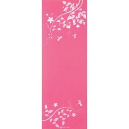 Gaiam Dragonfly Hydrangea Print hot pink yoga mat