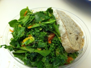 Spicy Sabzi salad from Sweetgreen (sadly, minus the tofu)