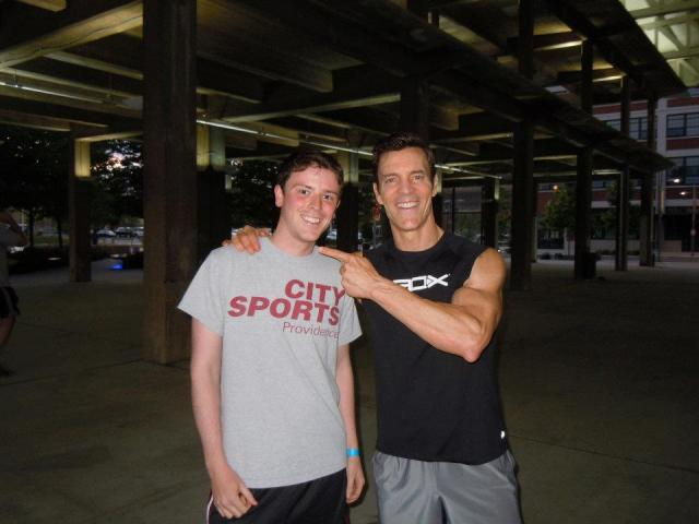 Tony and Matt at a Yards Park workout a few days before the race