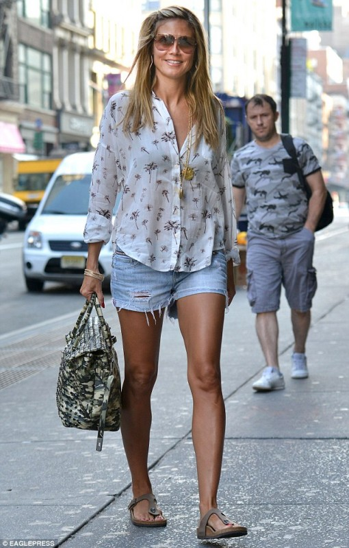 Heidi Klum in a pair that I tried on