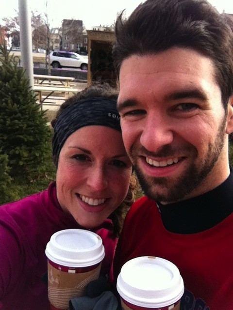 Post-run holiday lattes