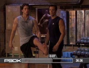 P90X YogaX original - Daniel Haas holding up his leg