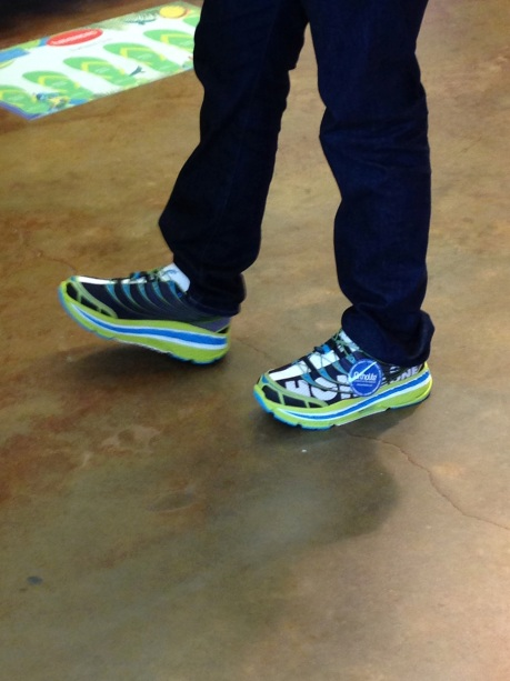 Brian modeling Hoka One Ones