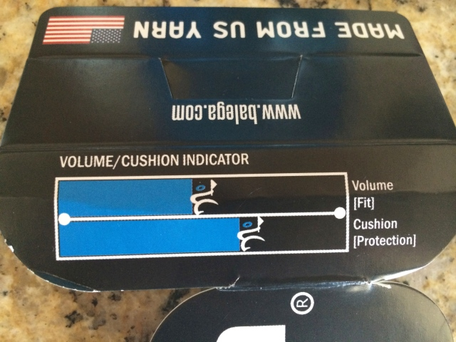 Cool volume and cushion indicator on packaging