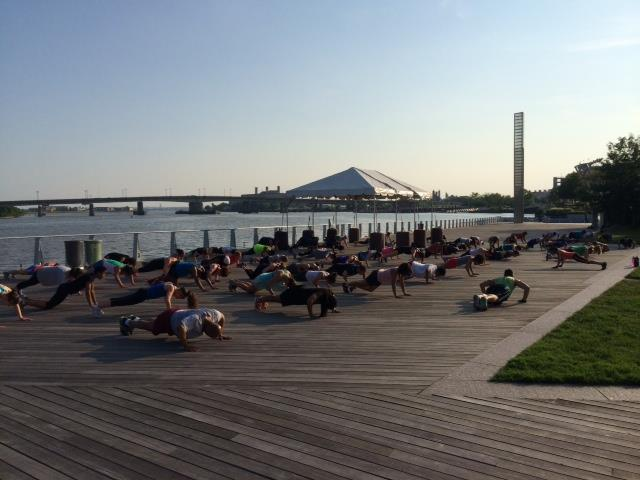 photo from VIDA Fitness - bootcamp class on the boardwalk