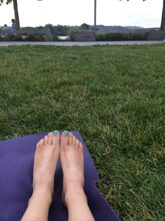 No pedicure but painted toes and an awesome Birkenstock tan