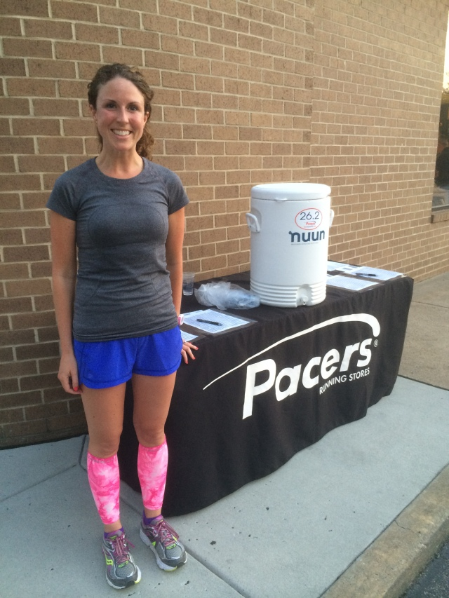 Taken post-run in front of the Pacers table