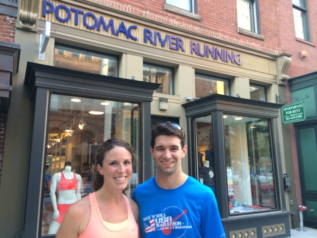 Post-run club in downtown DC