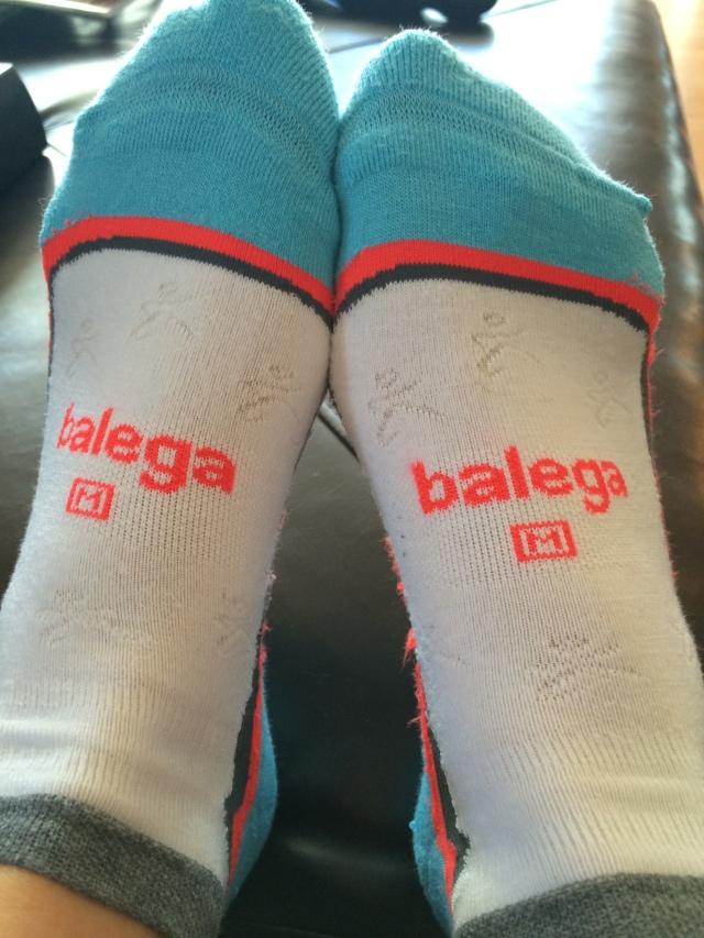 Cute little runners on the socks