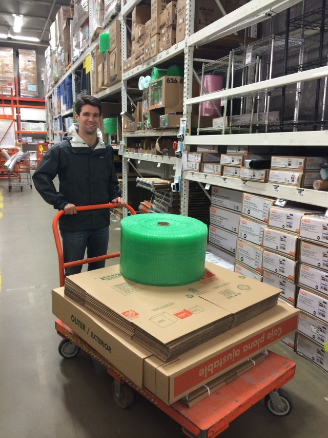 Home Depot trip for moving boxes and supplies!