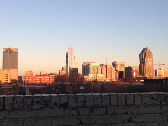 Gorgeous view of Raleigh from Boylan Bridge Brewpub