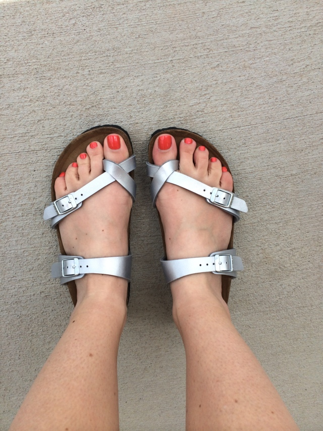 Pedicure plus new pair of my favorite sandals/shoes in the world, Birkenstocks!