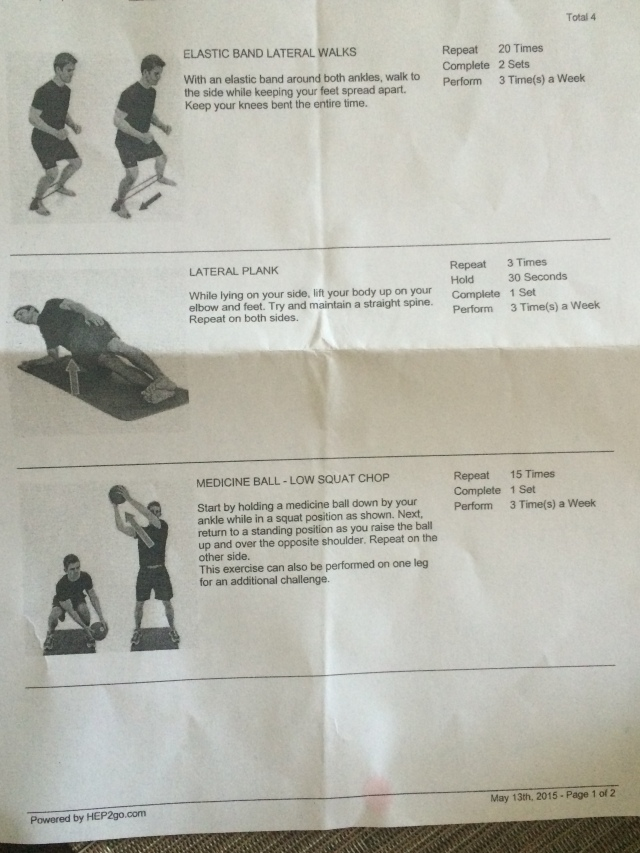 Exercises for runners handout from Pivot Physical Therapy, Raleigh