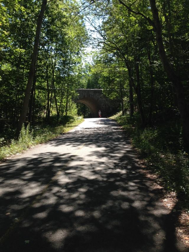 Running on Duck Brook Road