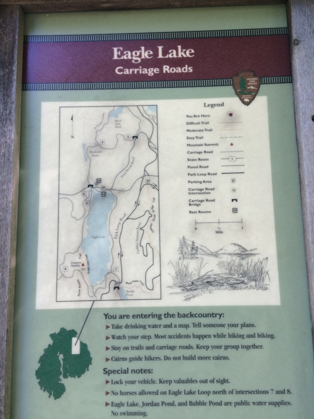 "Great information at each carriage road ""trailhead"""