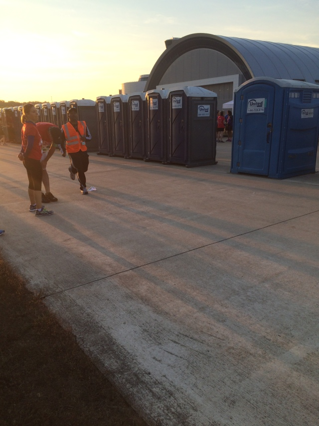 Portapotty set-up improvement