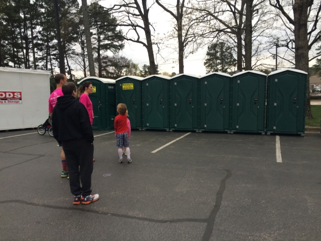 Basically no portapotty line - AWESOME.